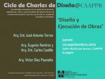 arquillano Ciclo de Charlas de Diseño CAAPPR: Diseño y Ejecución de Obras
